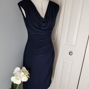 Lauren Ralph Lauren Sleeveless Navy Blue Dress 10